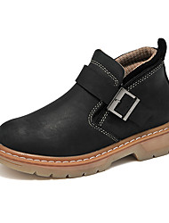 Women's Boots Winter Work & Safety Cowhide Outdoor / Athletic / Casual Flat Heel Others Black / Brown Others