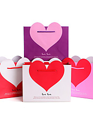 1pc Paper Gift Bags Heart Gift Bag Valentine's Day Bag
