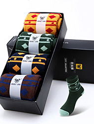 DOUBLE LIONS® Herren Baumwolle Socken 4 / box-MM0400