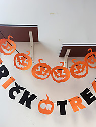 Party Banner 1Pc For Helloween Party Naughty Letters Pumpkin Flowers