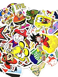 ZIQIAO 50 Pcs/ Pack Random Stickers Car Styling Funny Car Sticker Doodle Motorcycle Bike Travel Doodle