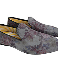 Men's Loafers & Slip-Ons Spring / Summer / Fall / Winter Comfort Leather Casual Flat Heel Others Blue
