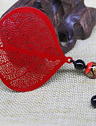 Bookmark Metal Leaf Agate Glass Chinese Wind Classical Retro Vein Of Gifts National Wind