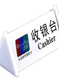 acrylique caisse de carte de table peut glisser rapidement la carte UnionPay logo alipay WeChat paiement signalisation