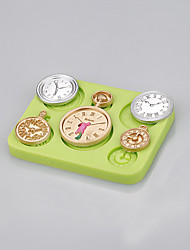 Hot wholesale clocks and watches shaped cake decorating silicone mold