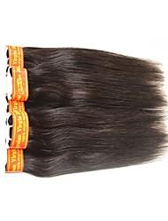 Cabelo Humano Ondulado Cabelo Malaio Retas 12 meses 1 Peça tece cabelo