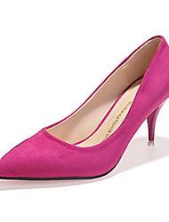 Damen High Heels Komfort Vlies Sommer Normal Komfort Schleife Stöckelabsatz Schwarz Grau Purpur 5 - 7 cm
