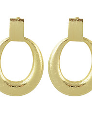New Gold Color Big Round Hanging Earrings