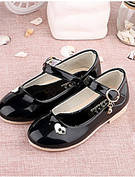 Girls' Flats Spring Fall Light Up Shoes PU Casual Flat Heel White Black Red