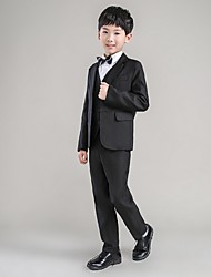 Boy Clothing Set Gentleman Bow Tie Tshirt  Pants 5pcs Suits Boy Casual Set Kids