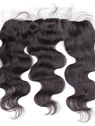 4x13 Closure Brazilian Human Hair Closure Free Middle 3 part Light Brown Body Wave Lace Frontal