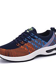 Herren-Flache Schuhe-Lässig-Stoff-Flacher AbsatzSchwarz Blau Orange