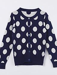 Pull & Cardigan Fille de Points Polka Décontracté / Quotidien Coton Automne Bleu