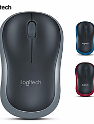 Logitech® Original Mouse M185 Wireless Mouse With Battery 1000dpi (Assorted Colors) , Red/Blue/Grey