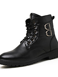 Men's Fashion Boots Casual/Outdoor/Party & Evening Microfiber Leather Walking Hight Cut Boots