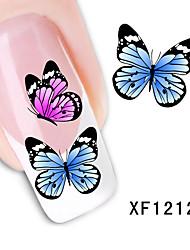 Fashion Cute DIY Watermark Butterflies Tip Nail Art Nail Sticker & Decal Manicure Nail Tools