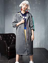 room404 mulheres saindo rua chique trincheira bloco coatcolor entalhe lapela de manga comprida