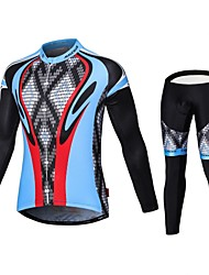 Malciklo Maglia con pantaloni da ciclismo Per uomo Maniche lunghe Bicicletta Abbigliamento a compressione Calze/Collant/Cosciali