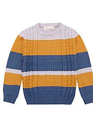 Casual/Daily Rainbow Sweater & Cardigan,Cotton Winter Spring Long Sleeve Regular