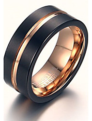 Rock Gothic Tungsten Steel Rose Gold Man Ring Restoring Ancient Ways Christmas Gifts