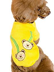 Hunde Pullover Gelb Hundekleidung Frühling/Herbst Tier Niedlich / Urlaub / Lässig/Alltäglich /