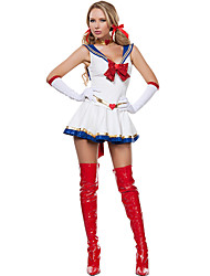 Costumes More Costumes Halloween / Oktoberfest White Solid Terylene Dress / More Accessories