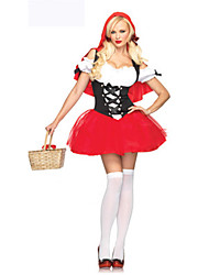 Costumes Movie & TV Theme Costumes Halloween Red Patchwork Terylene Dress / More Accessories