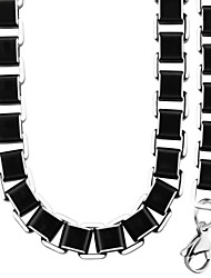 High Quality 316L Stainless Steel Chunky 4.8MMFigaro Link Chain Necklace Bracelet Jewelry Set For Men NB60002