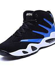 Masculino-Tênis-Conforto-Rasteiro-Azul / Preto e Vermelho / Preto e Branco-Tecido-Casual