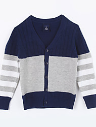 Boy's Casual/Daily Color Block Sweater & Cardigan,Cotton Fall Blue