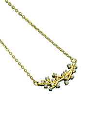 925 Silver Rhinestone Branch Pendant Necklaces