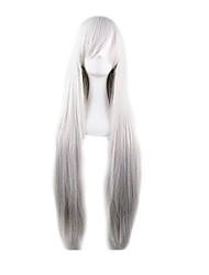парик косплей Парики для женщин Серый с градиентом Карнавальные парики Косплей парики