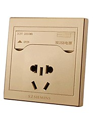 Five-Hole Multi-Function Dual-Usb Clamshell Smart Switch Socket