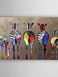 Pintados à mão Animal Horizontal,Modern 1 Painel Tela Pintura a Óleo For Decoração para casa