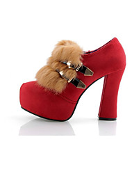 Women's Boots Winter Heels Other Animal Skin Dress / Casual Chunky Heel Others Red Walking