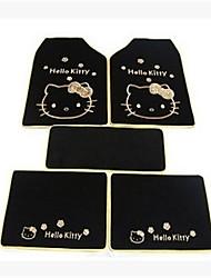 interior da cabeça do gato preto tapetes tapetes de chão kt da cópia do leopardo dos desenhos animados do tapete