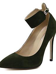 Damen-High Heels-Hochzeit / Kleid / Party & Festivität-Wildleder-Stöckelabsatz-Absätze / Komfort / Neuheit / Pumps / Spitzschuh /