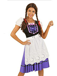 Costumes de Cosplay / Costume de Soirée Fête d'Octobre/Bière / Serveur / Serveuse Fête / Célébration Déguisement HalloweenPourpre claire