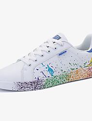 Unisex-Sneaker-Lässig-PU-Flacher Absatz-Komfort-Schwarz Blau Grün