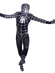 Cosplay Costumes Super Heroes / Spider Movie Cosplay Black Print Leotard/Onesie Halloween / Christmas / New Year Male Spandex