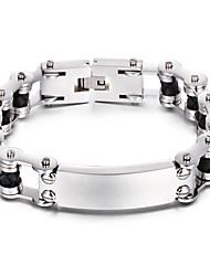 Kalen New Fashion Men's Bike Chain Bracelet 316L Stainless Steel&Leather Link Chain Bracelet Cheap Male Accessories Gift