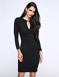 Women's Keyhole Bodycon Pencil Party Mini Dress
