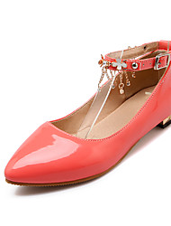 Women's Heels Fall / Pointed Toe Patent Leather Office & Career / Casual Low Heel Buckle Black / Red / White Others