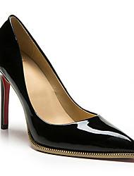 Черный Красный Горчичный-Женский-Повседневный-Кожа-На шпильке На платформе-На платформе-Обувь на каблуках