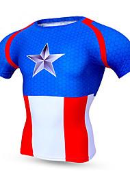 Esportivo Camisa para Ciclismo Homens Manga Curta Moto Respirável / Secagem Rápida / Confortável Blusas Terylene ClássicoPrimavera /