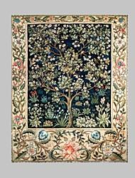 Fantasia / Botânico Impressão em tela Um Painel Pronto para pendurar , Vertical