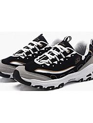 Da donna-scarpe da ginnastica-Sportivo-Punta arrotondata-Piatto-Tessuto-Blu / Nero e oro / Nero e bianco