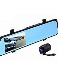 f23 HD двойной объектив зеркало заднего вида вождения рекордер двойной объектив 4,3-дюймовый синий зеркало 1080p рекордер