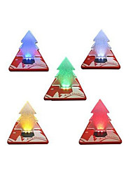 Pocket Folding Christmas Tree Shape LED Light Credit Card For Holiday 2016 Hot Sale New