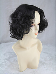 High Quality Wavy Hair Heat Resistant Bob Wig Synthetic Wigs For Women Cheap Curly Black Wig